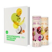 Kochbuch-Geschenkset mit zwei Dosen Trockenfrüchte