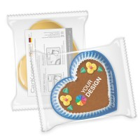 CarKoser® 2in1 Classic Scheibenschwamm Herzform glatt | einzeln Folienverpackung