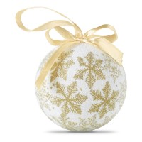 Weihnachtsbaumkugel FLAKIES   Gold