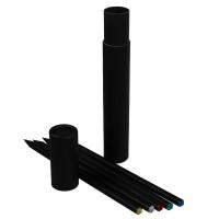 Zertifizierte Grafitstifte CRYSTAL PEN im Köcher | 1-farbiger Logodruck