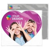 GripCleaner® 4in1 Mousepad Herz 23x20cm | Einlegekarte Individuell