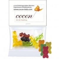 Bio Gummibärchen ohne Gelatine (vegan), ca. 15g, Express Midi-Tüte mit Werbereiter