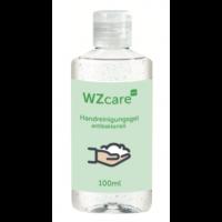 Handreinigungsgel 100 ml, transparente Flasche