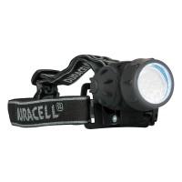 Kopflampe DURACELL-EXPLORER™ als Werbemittel in Schwarz