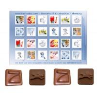 Tisch-Adventskalender mit individuellem Schokoladenmotiv