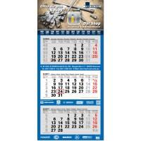 "3-Monats-Kalender ""Junior-3, grau, EU"""