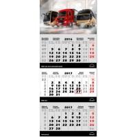 "3-Monats-Kalender ""Spezial, grau, int."""