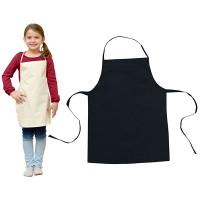 Bio-Baumwoll Schürze für Kinder | 1-farbiger Logodruck