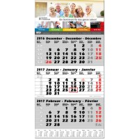 "3-Monats-Kalender ""Trio, grün"""