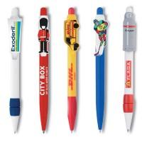 Der Clip des Kugelschreibers wird in Ihrer Wunschform ausgestanzt und bedruckt.
