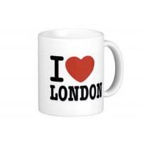 Porzellantasse London als Werbemittel