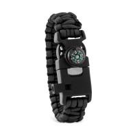 Weitere Ansicht Outdoor Survival Armband SURVIVAL | Schwarz