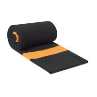 Zweilagiger Schal mit zwei Farbstreifen