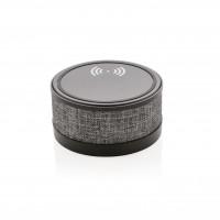 Wireless-Charger mit Lautsprecher im trendigen Stoffbezug, s