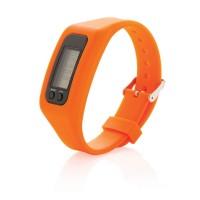Schrittzähler Armband, orange
