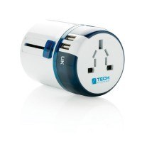 Travel Blue Reiseadapter mit USB, weiß