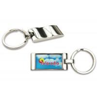 Metall-Schlüsselanhänger Curvo als Werbeartikel