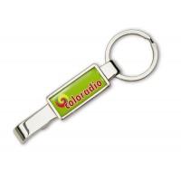 Metall-Schlüsselanhänger Open-it als Werbeartikel