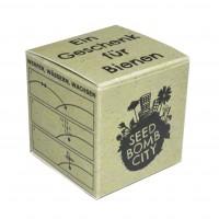 1 Seedbomb im Logo-Würfel | Bienenfreund