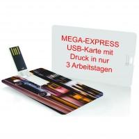 MegaExpress : USB-Karte Scheck als Werbeartikel