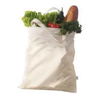 Bio-Baumwolltragetasche mit kurzen Henkeln | 4-farbiger Logodruck