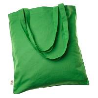 Bio-Baumwolltragetasche mit langen Henkeln | 4-farbiger Logodruck