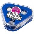 Rebel Ohrhörer | Blau mit Logo-Beispiel