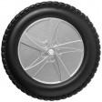 Rück-Ansicht 25 teiliges Werkzeugset in Reifenform   Silber