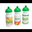 Die Bulb-Trinkflaschen verfügen über eine große Werbefläche, die auch im Digitaldruck bedruckt werden kann.