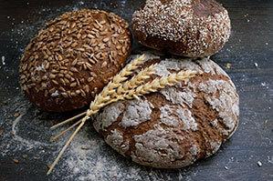 Drei verschiedene Brot Sorten