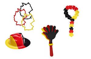 Deutschland Fanartikel Hut, Kette, Armbänder und Klatsch-Hände