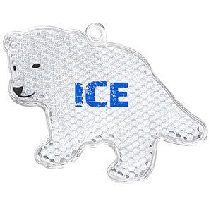 Druckbeispiel auf Eisbär-Reflektor