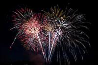 Buntes Feuerwerk zum start in das Neue Jahr