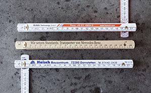Druckbeispiele von Meterstäben