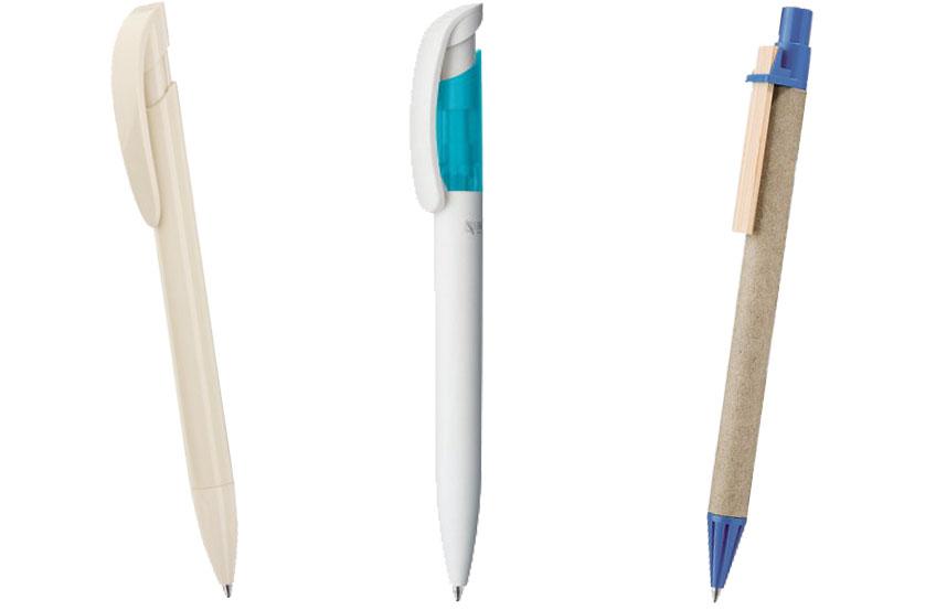 Beschreibung Nachhaltiger Kugelschreiber mit Beispiel Bild.