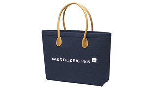 Frauen Werbeartikel, Tasche bedruckt mit Werbezeichen Logo