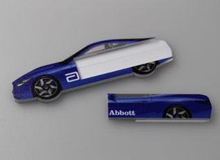 Rennwagen im Abbott-Design von laprinta