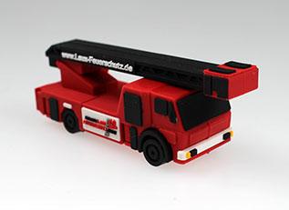 USB-Stick in 3D-Sonderform: Feuerwehr-Fahrzeug im LAUX-Design