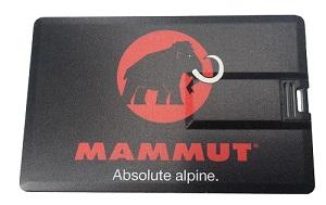 USB-Karte mit Mammut-Logo