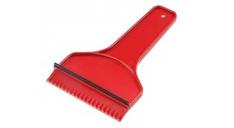 Roter Eisbrecher mit Gummilippe, der mit Ihrem Logo bedruckt werden kann