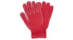 Rote Winterhandschuhe mit weißer Ziernaht