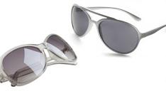 Eine grau Damen-Sonnenbrille und ein Herren-Sonnenbrille.