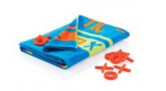 Blaues Strandtuch mit Muster